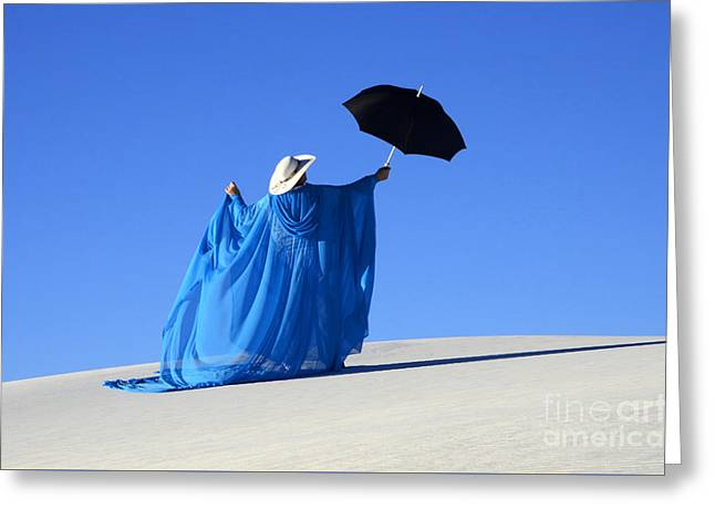 Mystic Blue 2 Greeting Card by Bob Christopher