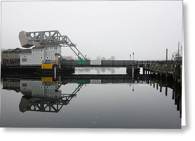 Mystic Ct Drawbridge Greeting Card