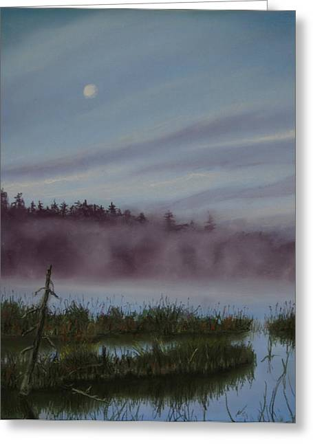 Hunting Pastels Greeting Cards - Mystic Morning Greeting Card by Kathy Dolan