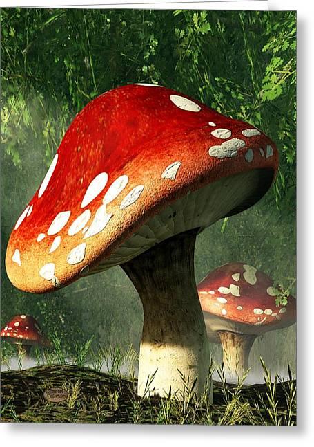 Mystic Mushroom Greeting Card by Daniel Eskridge