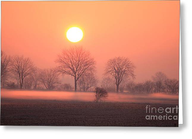 Mystic Red Sunrise Greeting Card