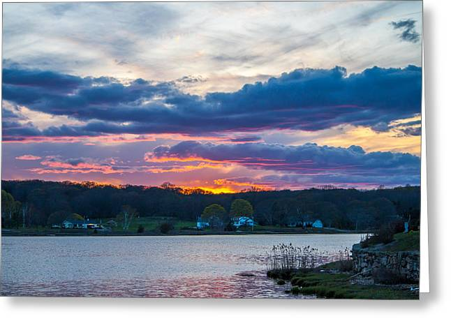 Mystic River Sunset Greeting Card