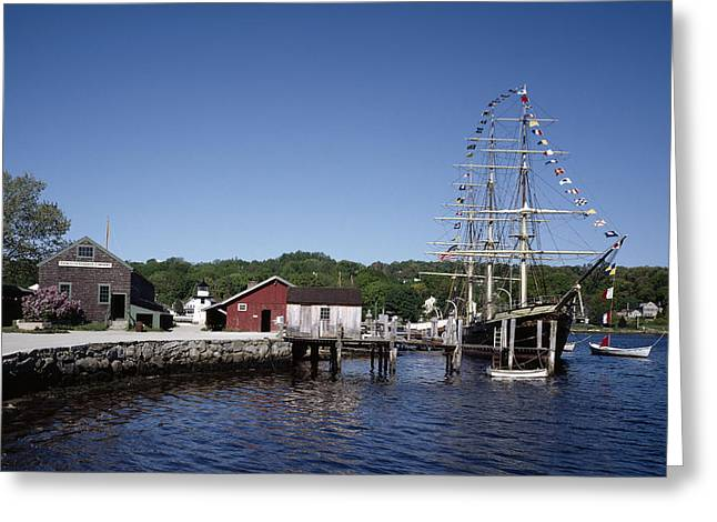 Mystic Seaport In Connecticut Greeting Card by Carol M Highsmith