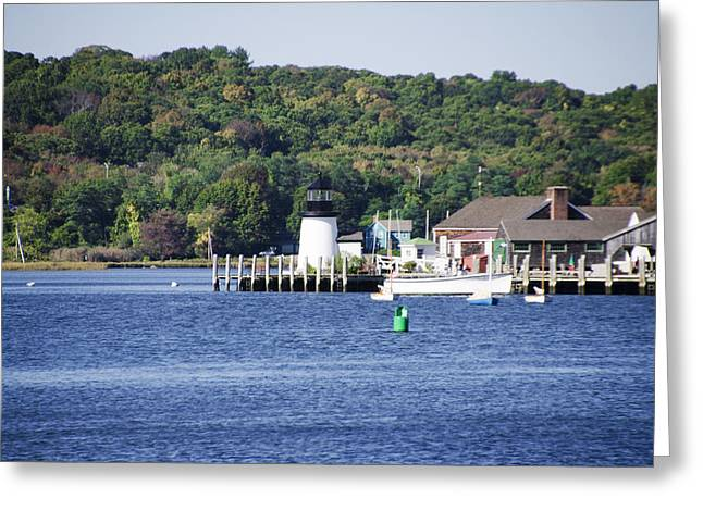 Mystic Seaport Lighthouse Greeting Card by Bill Cannon