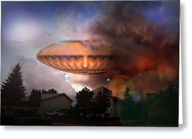 Mystic Ufo Greeting Card