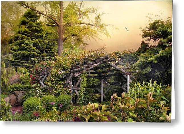 Mystical Arbor Greeting Card by Jessica Jenney
