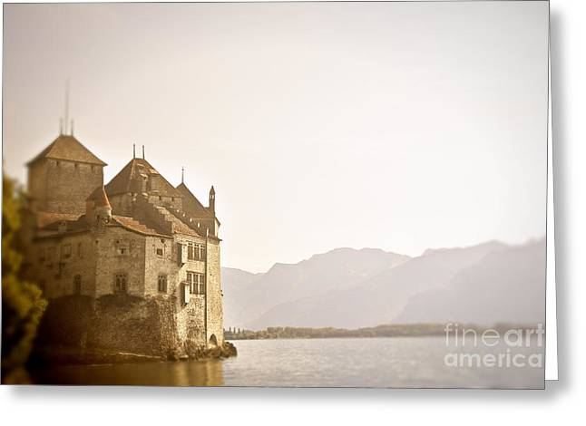 Mystical Chateau Chillon Greeting Card by Ivy Ho