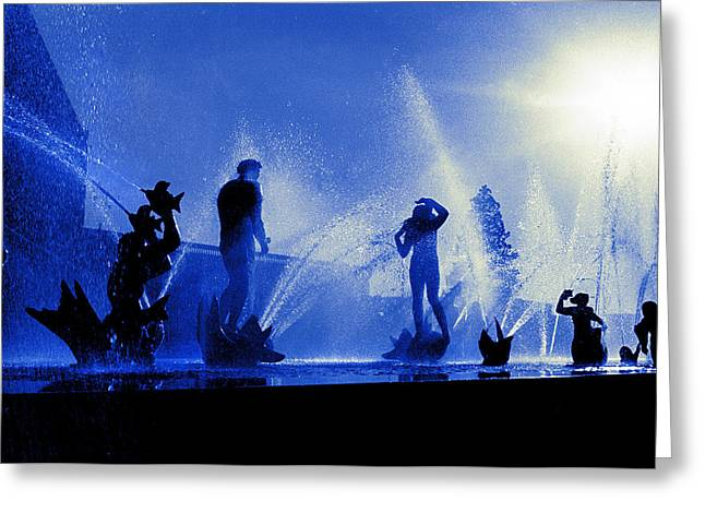 Mystical Fountains Two Greeting Card by Mike Flynn