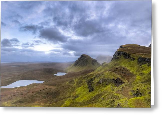Mystical Landscape On Skye Greeting Card by Mark E Tisdale