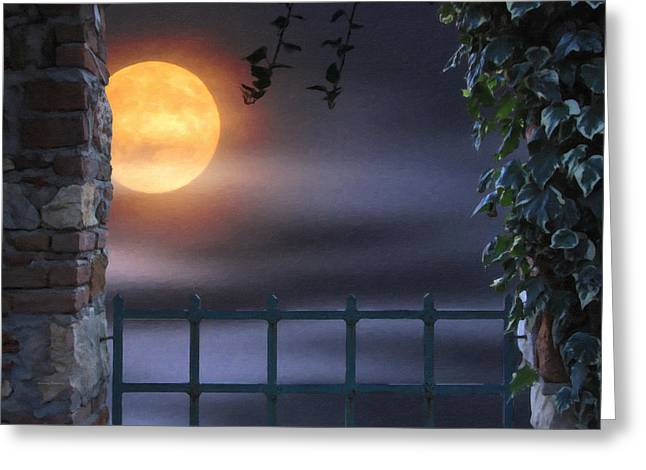 Mystical Moon Greeting Card by Kenny Francis