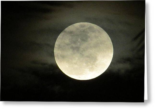 Mystical Moon Over Tampa Greeting Card