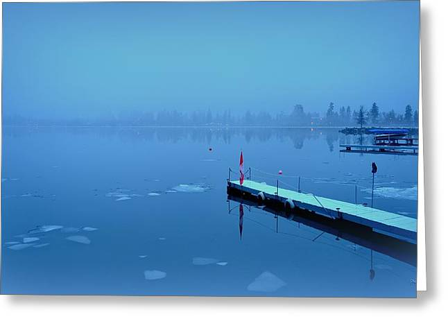 Mystical  Morning - Skaha Lake 03-06-2014 Greeting Card