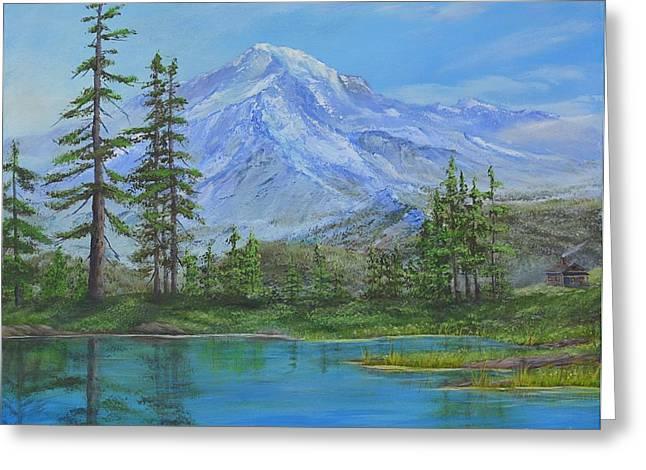 Mystical Mt. Rainier  Greeting Card