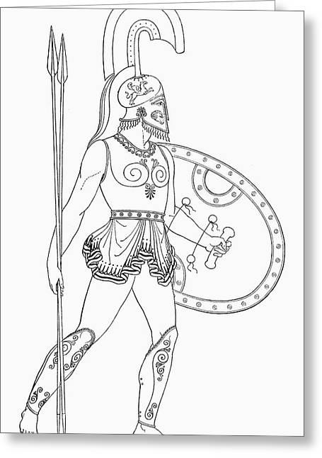 Mythology Aeneas Greeting Card by Granger
