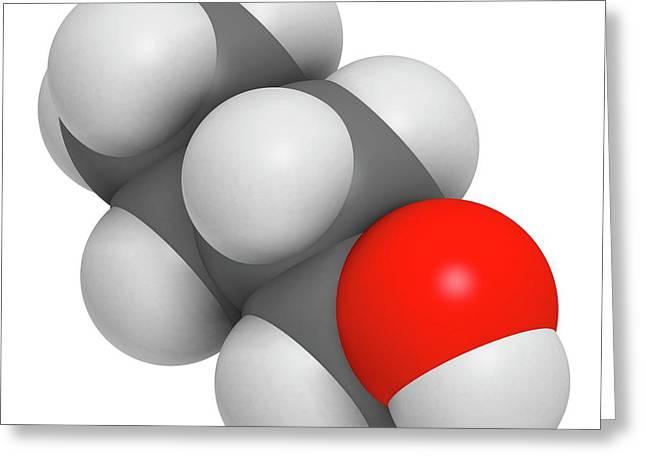 N-butanol Molecule Greeting Card by Molekuul