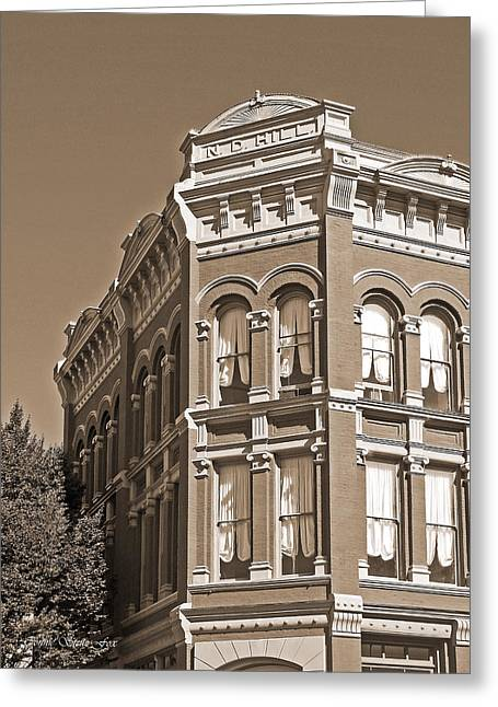 N. D. Hill Building. Port Townsend Historic District  Greeting Card by Connie Fox