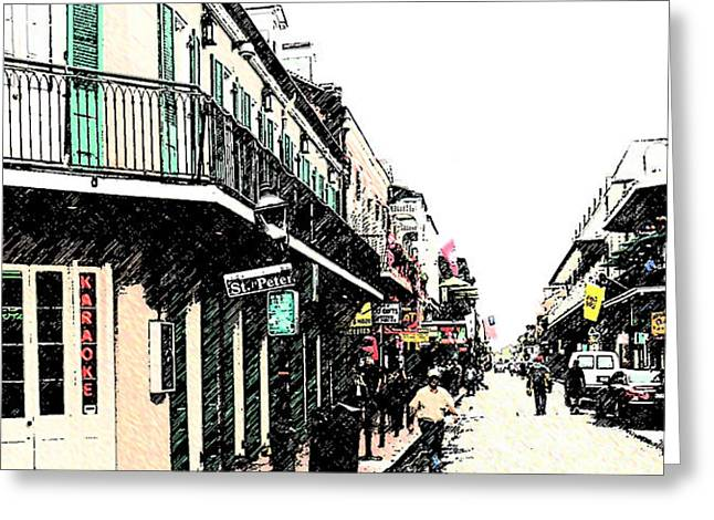 N O French Quarter Greeting Card
