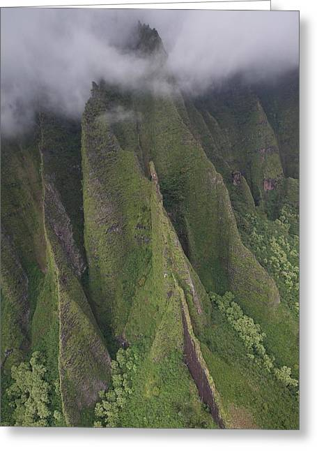 Na Pali Clouds Greeting Card