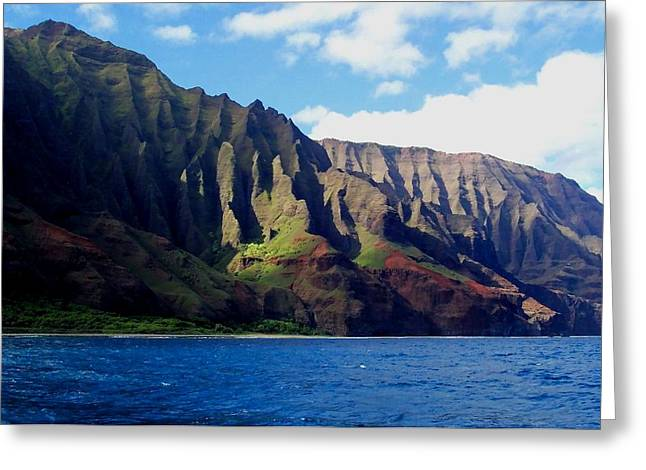 Na Pali Coast On Kauai Greeting Card by Amy McDaniel