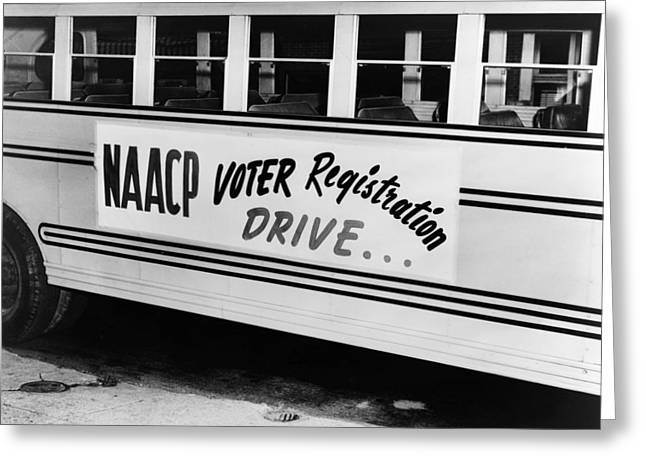 Naacp Voter Drive, C1962 Greeting Card