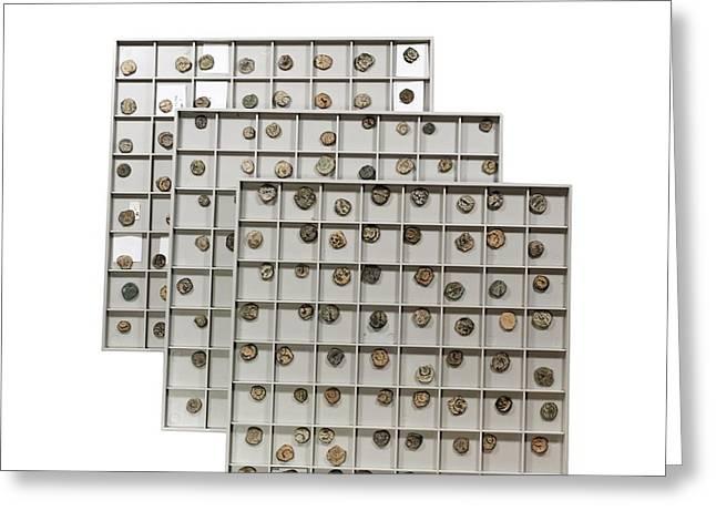 Nabatean Bronze Coins Greeting Card