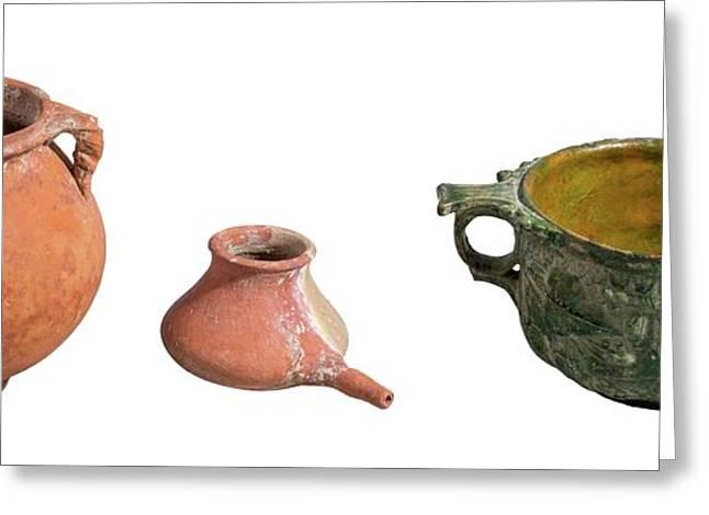 Nabatean Clay Vessels Greeting Card