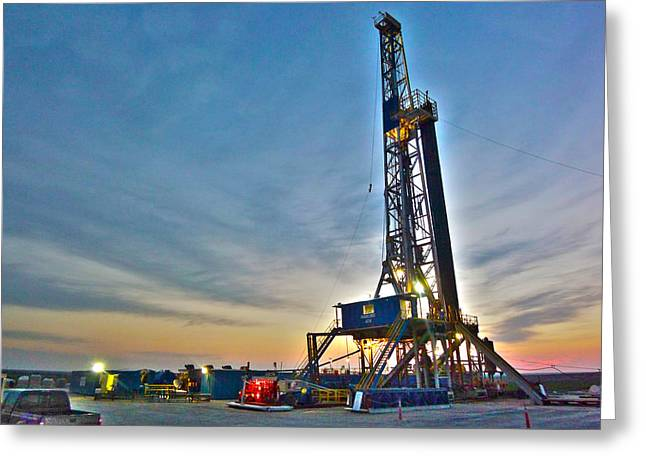 Greeting Card featuring the photograph Nabors Rig In West Texas by Lanita Williams