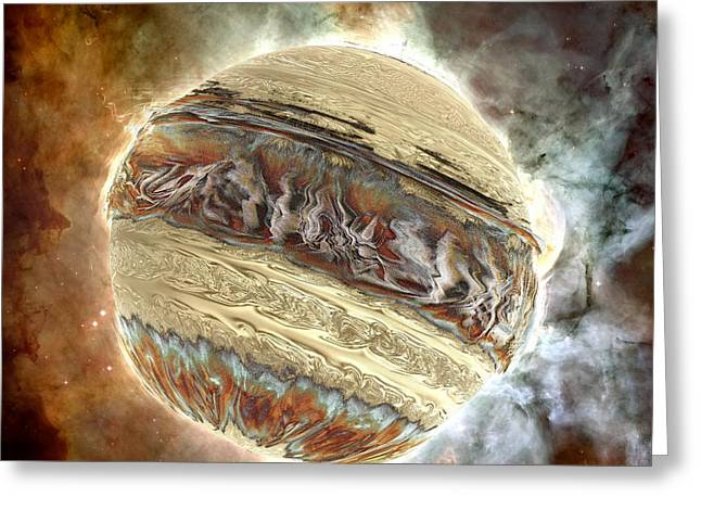 Nacre Planet Greeting Card by Bernard MICHEL