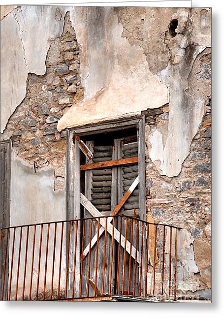 Nafplio Balcony Ruin Greeting Card