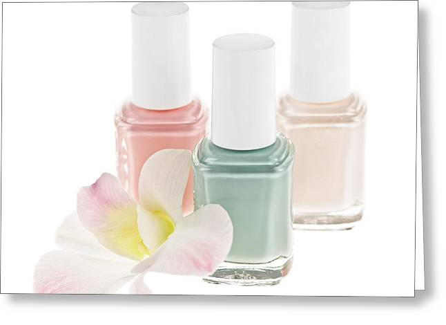 Nail Polish Bottles Greeting Card