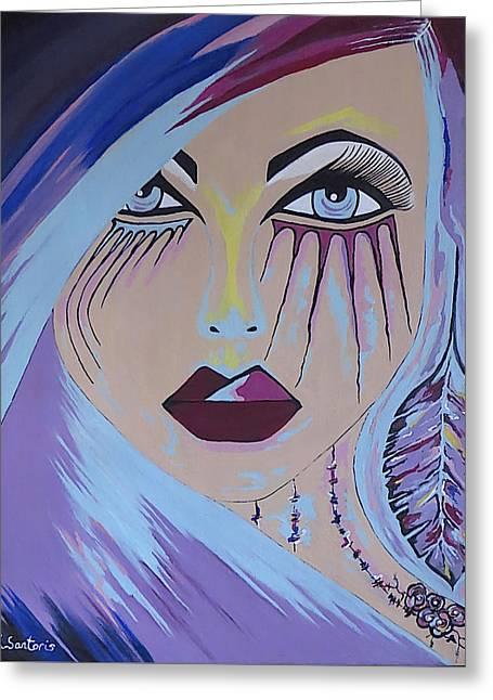 Naira - Contemporary Woman Painting Greeting Card