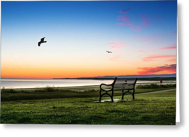 Nairn Beach At Dawn Greeting Card