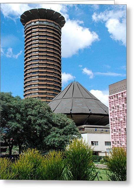 Nairobi Kenya Skyline Greeting Card by Robert Ford