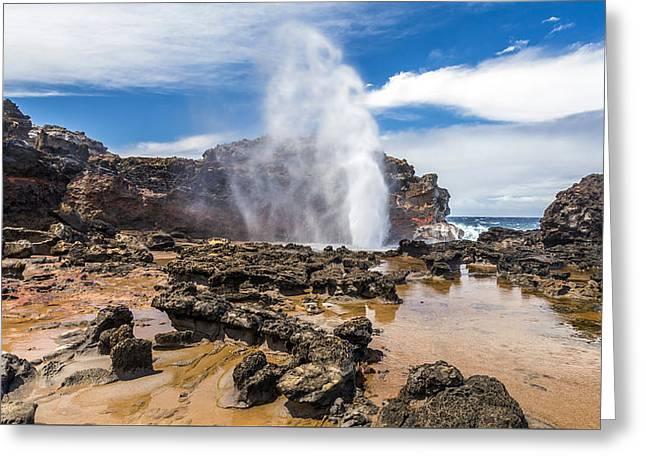 Nakalele Blow Hole Maui Greeting Card