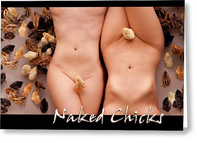 Naked Chicks 1 Greeting Card by Dario Infini