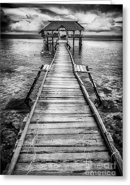 Nalusuan Pier Greeting Card by Adrian Evans