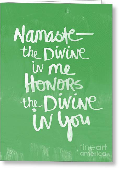 Namaste Card Greeting Card by Linda Woods