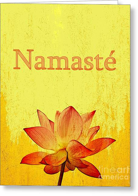 Namaste Greeting Card by Nishanth Gopinathan