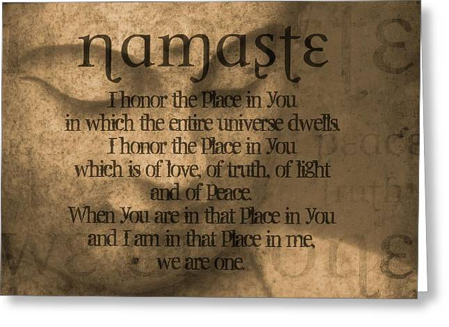 Namaste Orange Greeting Card