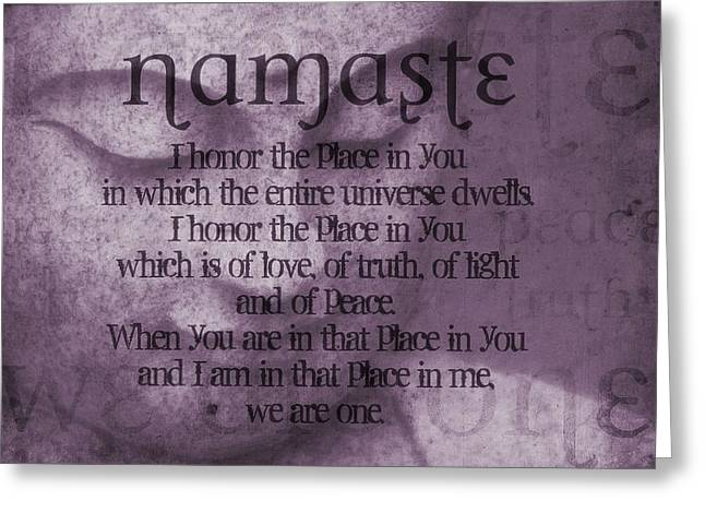 Namaste Pink Greeting Card