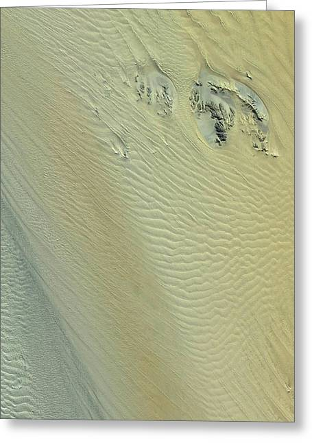 Namib Desert Greeting Card by Nasa/gsfc/meti/japan Space Systems And U.s./japan Aster Science Team