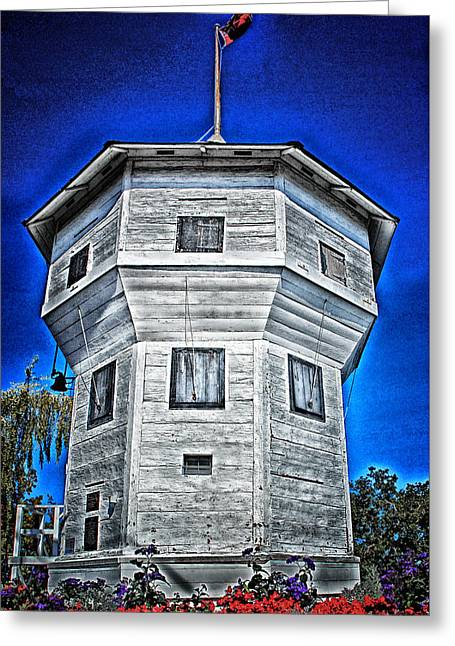 Greeting Card featuring the digital art Nanaimo Bastion by Richard Farrington