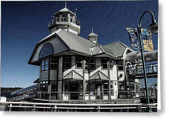 Greeting Card featuring the digital art Nanaimo Bistro by Richard Farrington