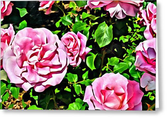 Nana's Roses Greeting Card