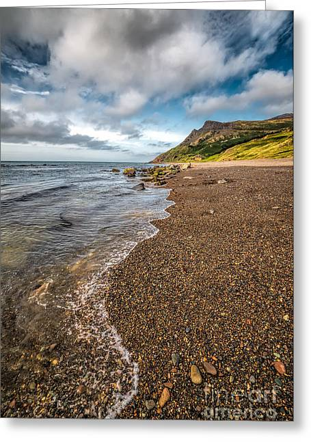 Nant Gwrtheyrn Shore Greeting Card by Adrian Evans