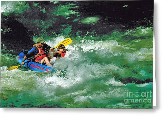 Nantahala Fun Greeting Card by Don F  Bradford