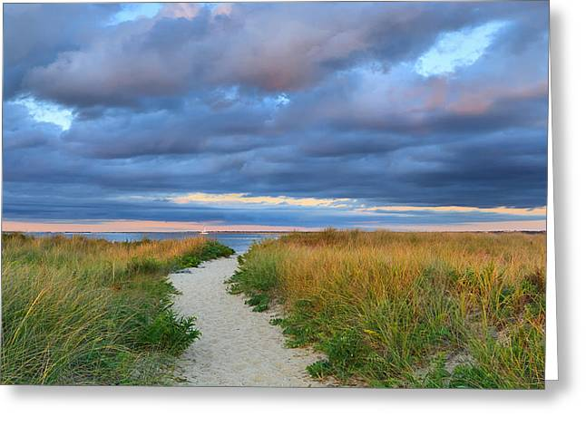 Nantucket Beach Path Greeting Card