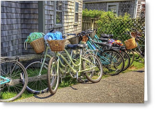 Nantucket Bikes Greeting Card