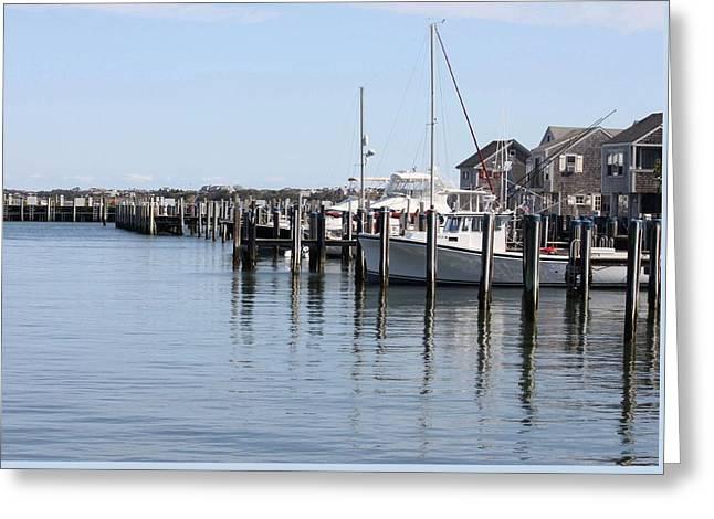Nantucket Harbor Greeting Card