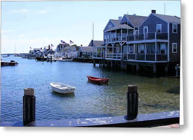 Nantucket Harbors Greeting Card